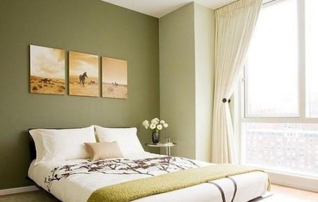 kombinasi 2 warna cat kamar tidur sempit yang menenangkan - inspirasi pemilihan warna cat kamar tidur