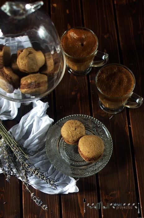 como hacer galletas de café y chocolate