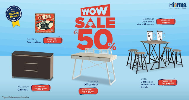 #Informa - #Promo Download Voucher Wow Sale Hingga 50% Kebutuhan Rumah (s.d 07 April 2019)