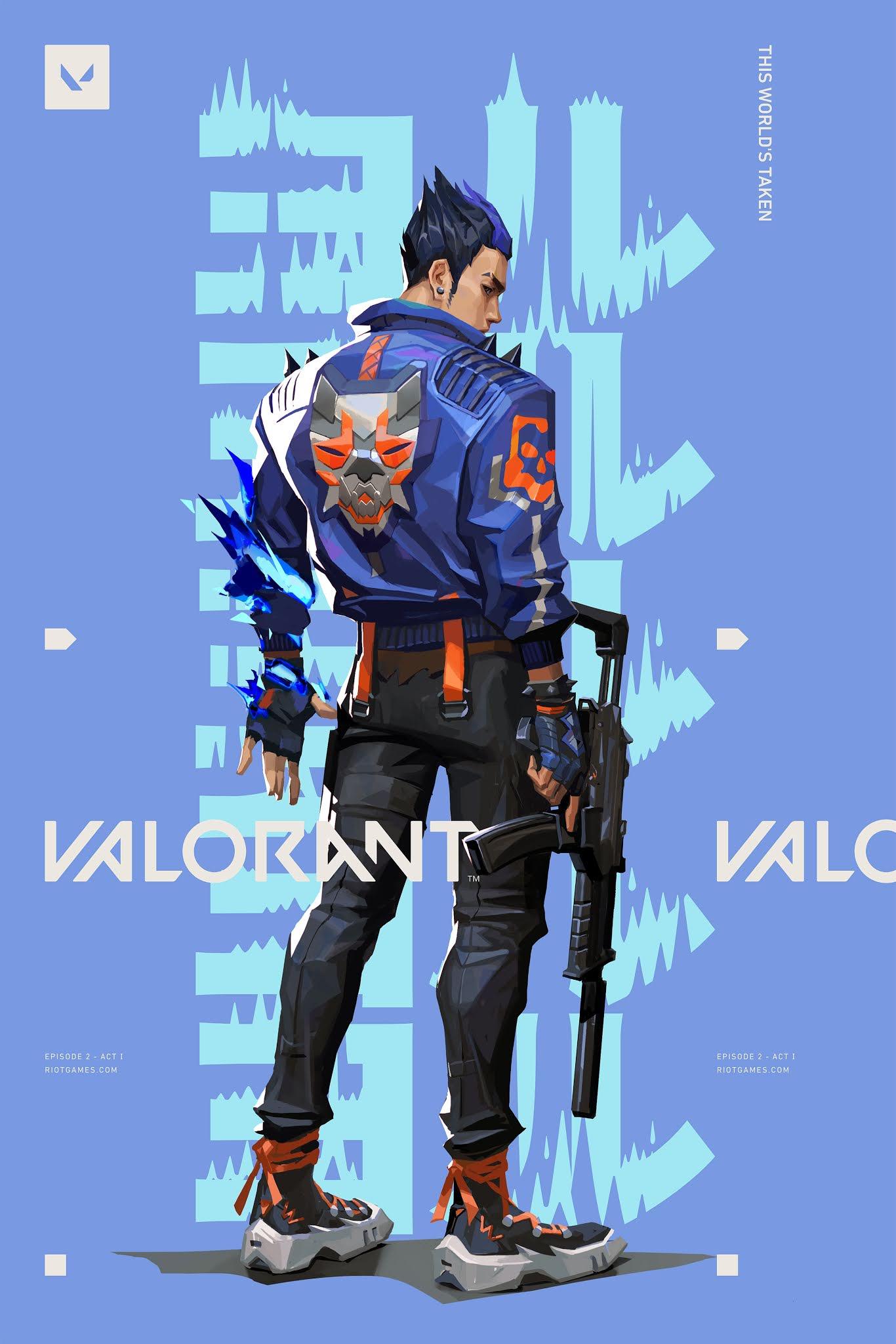 VALORNT MOBILE WALPAPER BLUE - YORU