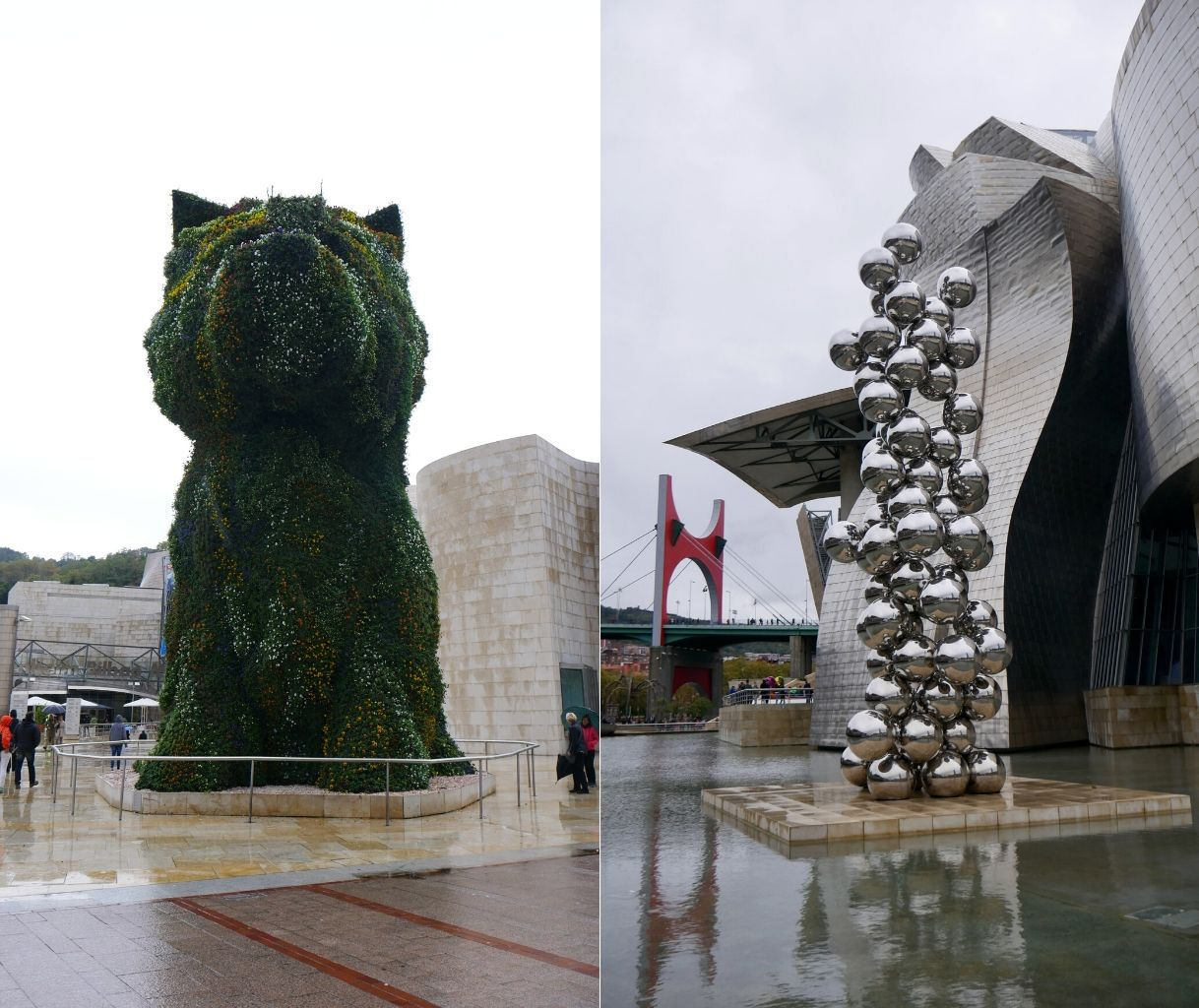 Puppy Jeff Koons et The Big Tree And The Eye Musée Guggenheim Bilbao Pays Basque Espagne