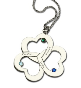 0934e32ae And look what I have found here, mothers day triple heart necklace with  names birthstones, ...