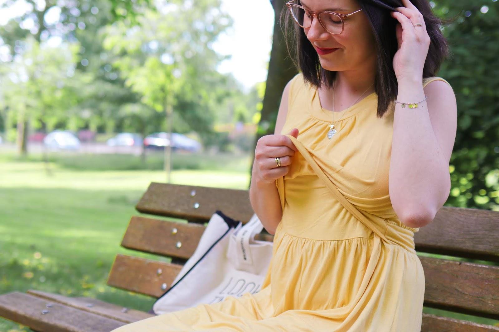 look comment s'habiller idée tenue allaitement allaiter vêtement pratique en public bébé robe tee shirt milker été vacances