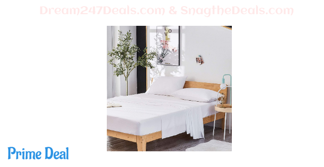 50% OFF  Dreaming Wapiti Queen Sheet Set, Double Brushed Breathable 4pcs Microfiber Bedding