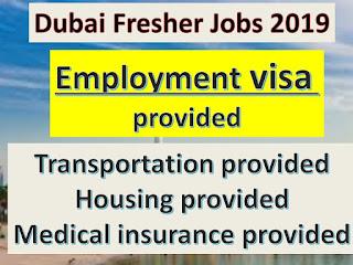 Fresher JOB in Dubai 2019, Jobs in Dubai for Fresher,