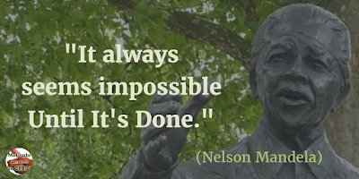 "71 Quotes About Life Being Hard But Getting Through It: ""It always seems impossible until it's done."" - Nelson Mandela"