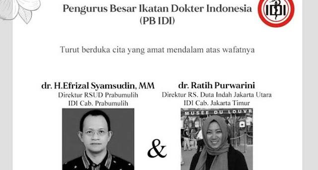 Lagi, 2 Dokter Senior Indonesia Meninggal Dunia saat Merawat Pasien Corona