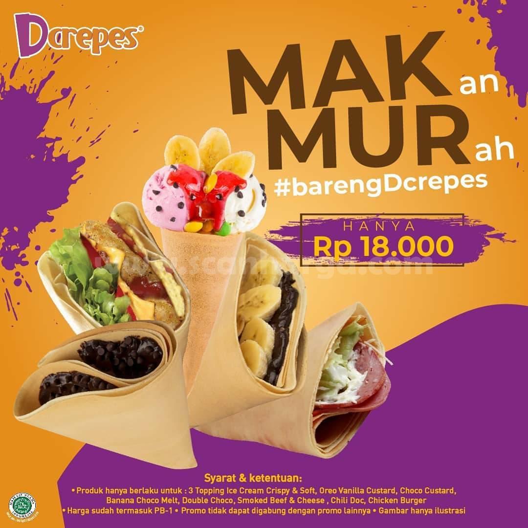 DCrepes Promo MAKMUR! MAKan MURah Hanya Rp 18.000