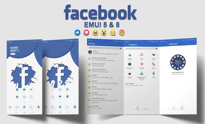 [EMUI] Facebook Theme For EMUI 5 and EMUI 8 !! Huawei Theme !! EMUI Theme !! Honor app