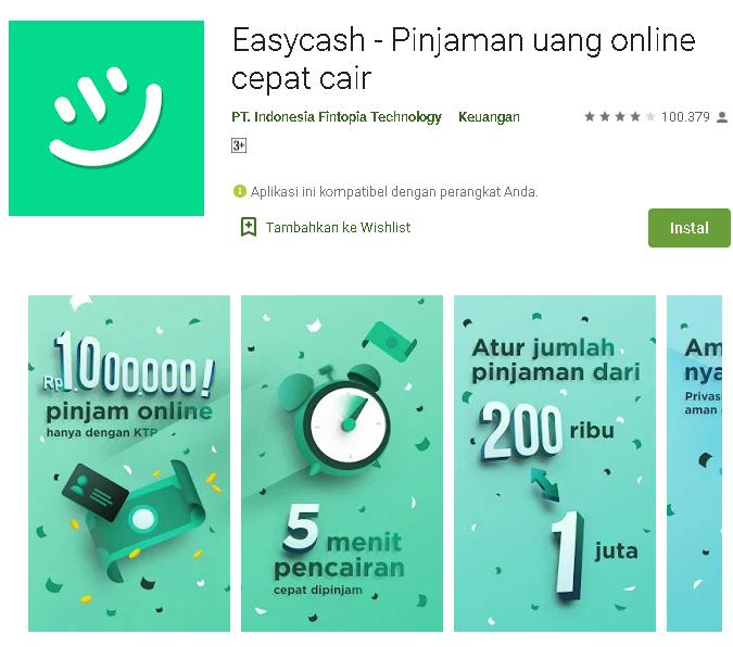 Cara Menggunakan Aplikasi Easycash Pinjaman Uang Kumpulan Remaja