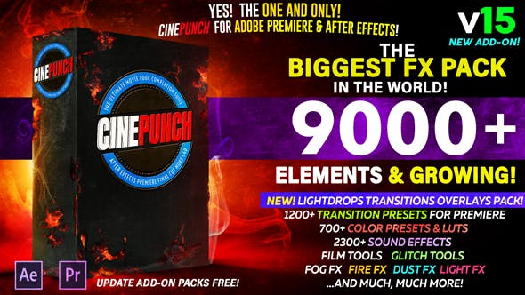 CINEPUNCH - The Biggest FX Pack in the World! V15 ( 16 April 19 Update) | Videohive 20601772 - Free download