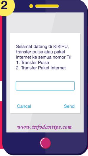 2 Cara Mudah Transfer Kuota Data Internet Tri Kikida