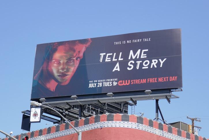 Tell Me A Story CW series premiere billboard