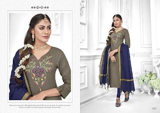 AVC Tara Churidar cotton Slub Dress Material