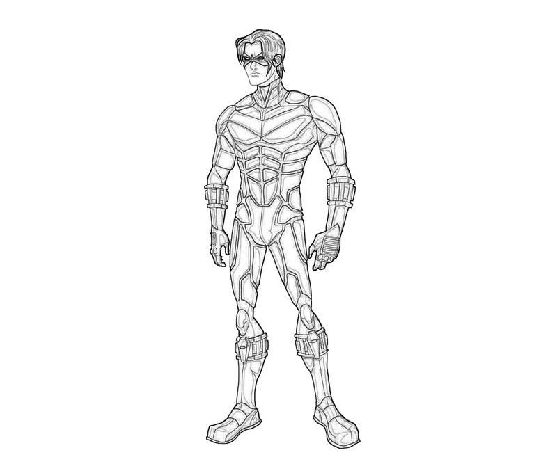nightwing coloring pages kids cooloring com