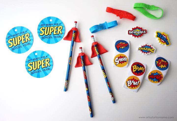 Back to School Superhero Goodie Bags with Free Printable Tags