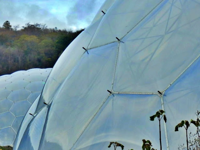 Close up of the Biomes at the Eden Project, Cornwall
