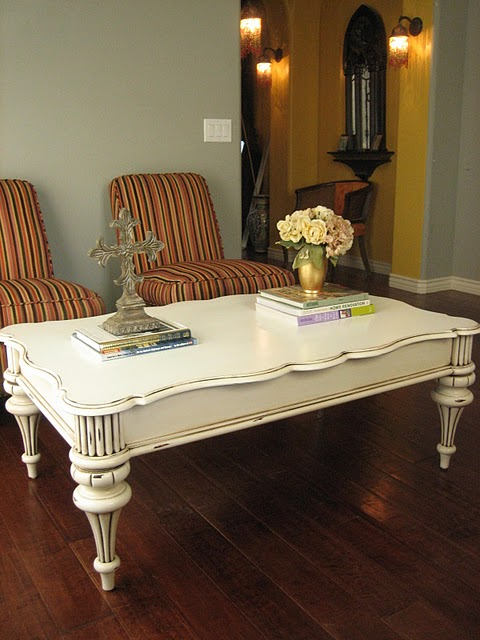 European Paint Finishes: ~ Shabby French Coffee Table