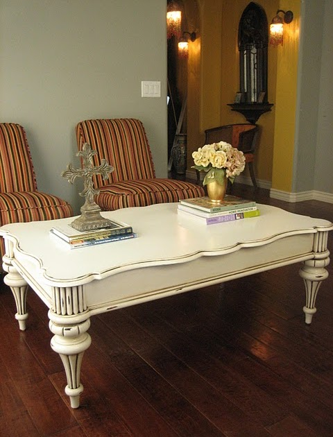 Painted White End Tables