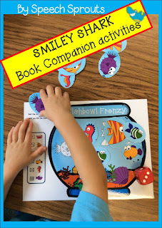 Best Year-End Picks for SLPs: Smiley Shark Book Companion www.speechsproutstherapy.com