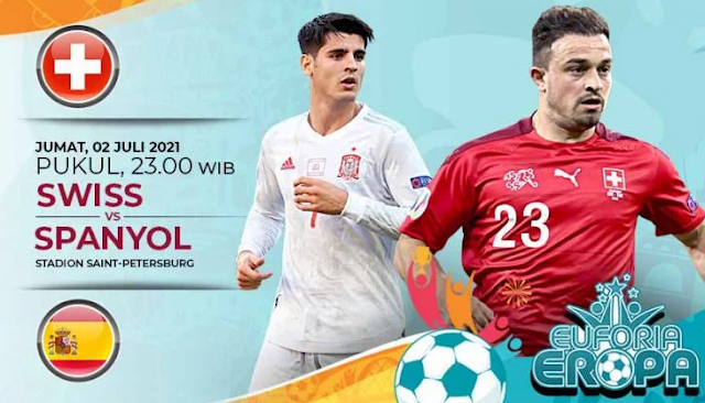 Link Live Streaming Swiss VS Spanyol Euro 2021 Malam Ini