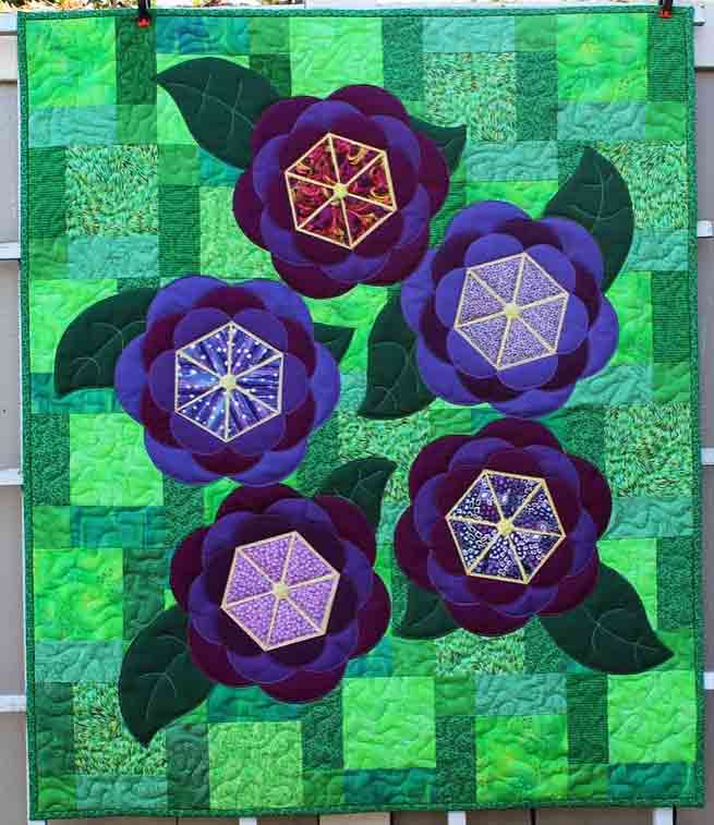 Blossoms quilt by QuiltFabrication - for sale