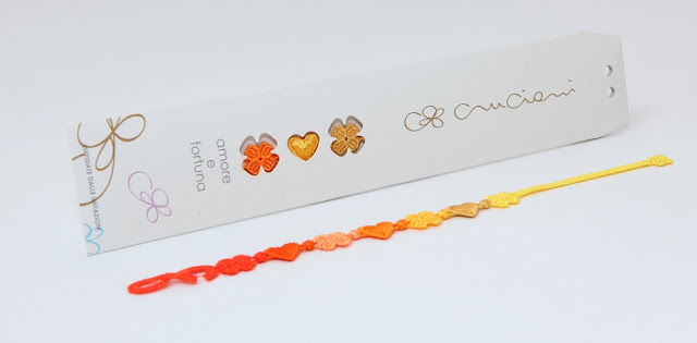 packaging braccialetti cruciani amore e fortuna