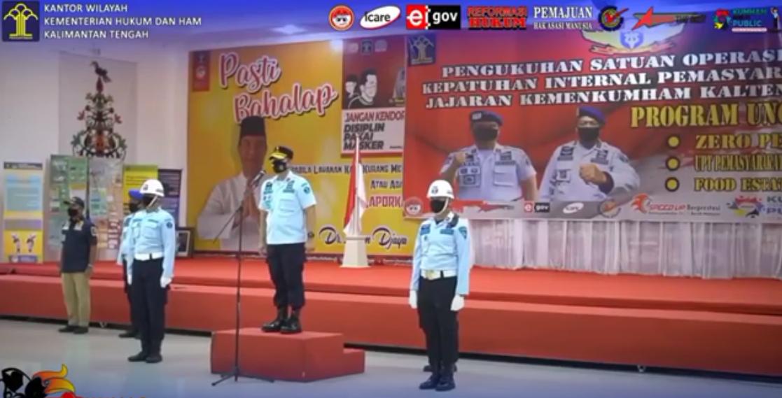 Kakanwil Kemenkumham Kalteng Kukuhkan Satops Patnal Di Jajaran Kanwil Kemenkumham Kalteng