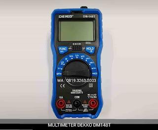 Darmatek Jual DEKKO DM-148T Digital Multimeter Praktis Penggunaan