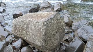 Piece of basalt column
