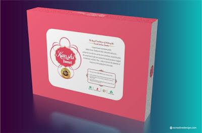 rakhi mithai box design backside