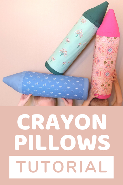 Crayon pillows tutorial