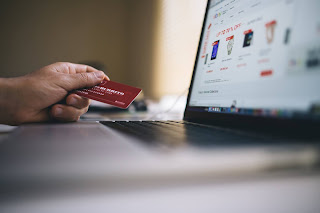 Online shopping with computer