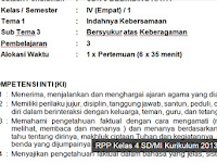 Download RPP Kelas 4 SD Tema 1 dan 2 Revisi 2016