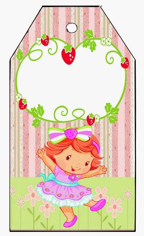 Para marcapáginas de Fiesta de Strawberry Shortcake bebé.