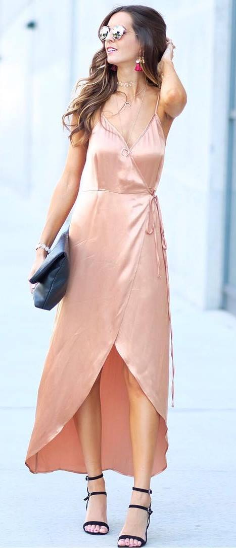summer outfit idea: perfect dress + heels + bag