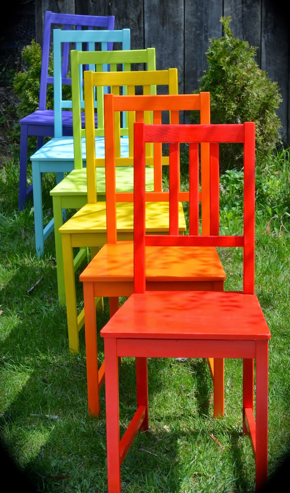Twig And Toadstool: Rainbow Chairs