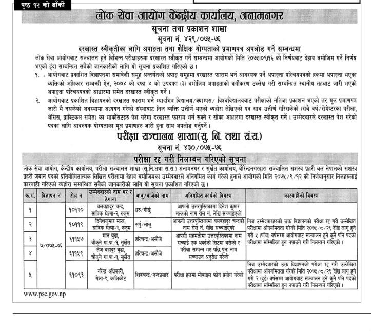 Nayab Subba Post Vacancy Announced In Bulk Number By Lok Sewa Aayog Nepal