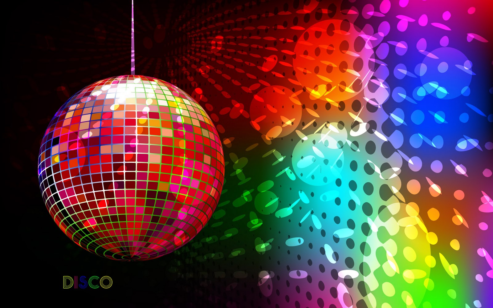Pics photos tutorial background abstrak pelangi - Colorful Disco Abstract Graphic Wallpaper