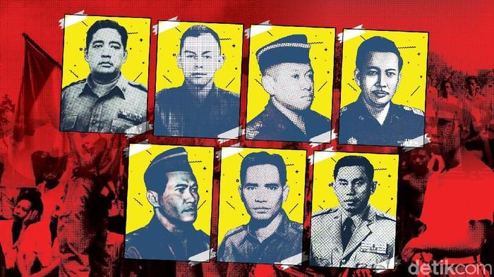 7 Pahlawan Revolusi Korban G30S/PKI