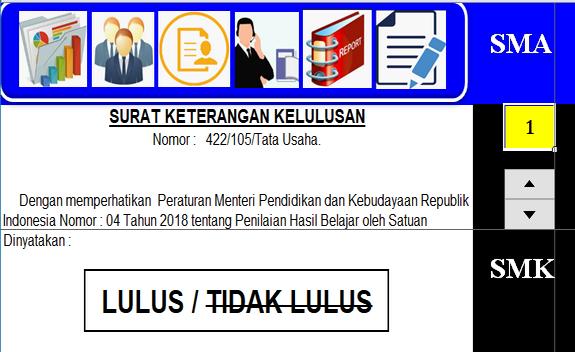 Aplikasi Excel Cetak SKHUS 2020 SMA/SMK (K-2006 Dan K-2013)