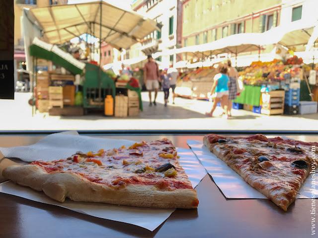 COmer en Venecia diario de viaje Italia