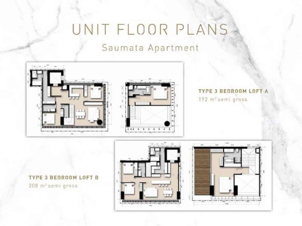 Saumata Tipe 3BR Loft