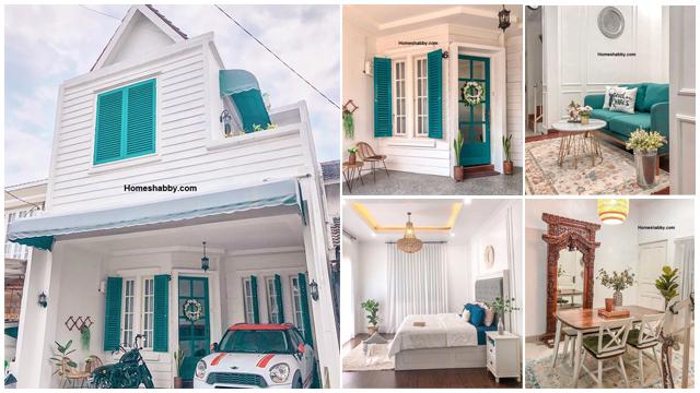 Ide Desain Rumah Bernuansa Biru Turqouise Bergaya Vintage Modern Dengan Dekorasi Tanaman Yang Hits Homeshabby Com Design Home Plans Home Decorating And Interior Design