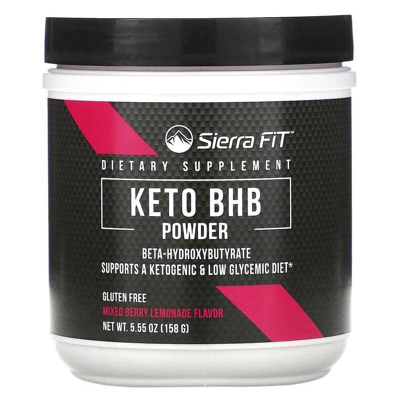 Sierra Fit, Keto BHB в порошке, бета-гидроксибутират, вкус ягодного лимонада, 158 г (5,55 унции)