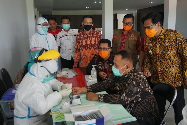 Giliran Bupati, Sekda dan Pejabat di Rapid Test