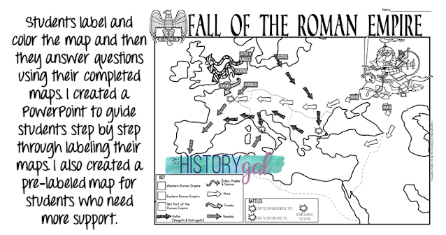 Image of Fall of Rome Map Activity