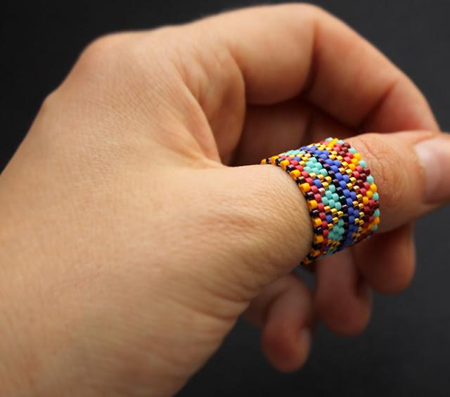 кольца из бисера купить изделия ручной работы из бисера