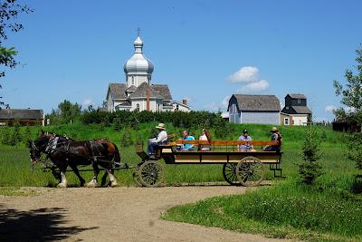 Wagon ride at Ukrainian Cultural Heritage Village