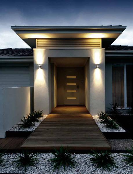Arredamento e dintorni illuminazione esterno - Illuminazione ingresso casa ...